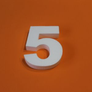 "Цифра ""5"" 29 см, пенопласт (1уп = 2шт)"