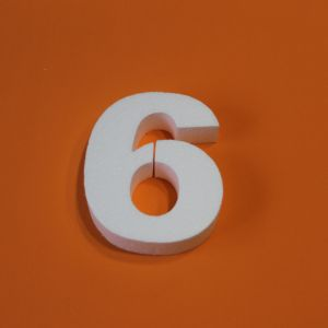 "Цифра ""6"" 20 см, пенопласт (1уп = 2шт)"