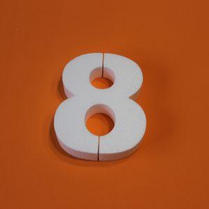 "Цифра ""8"" 20 см, пенопласт (1уп = 2шт)"