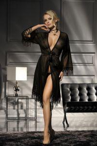 Excellent Beauty N-718 прозрачный халат и трусики стринги
