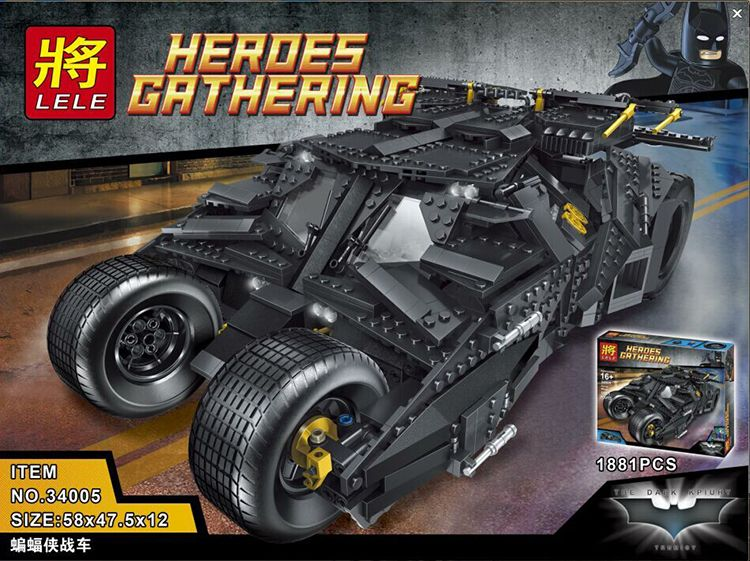 "Конструктор Lele Heroes Gathering ""Batman Batmobile"" 1881 деталей No.34005"
