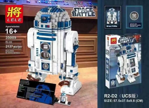 "Конструктор Lele Space Battle"" R2D2"" 2137 деталей No.35009"