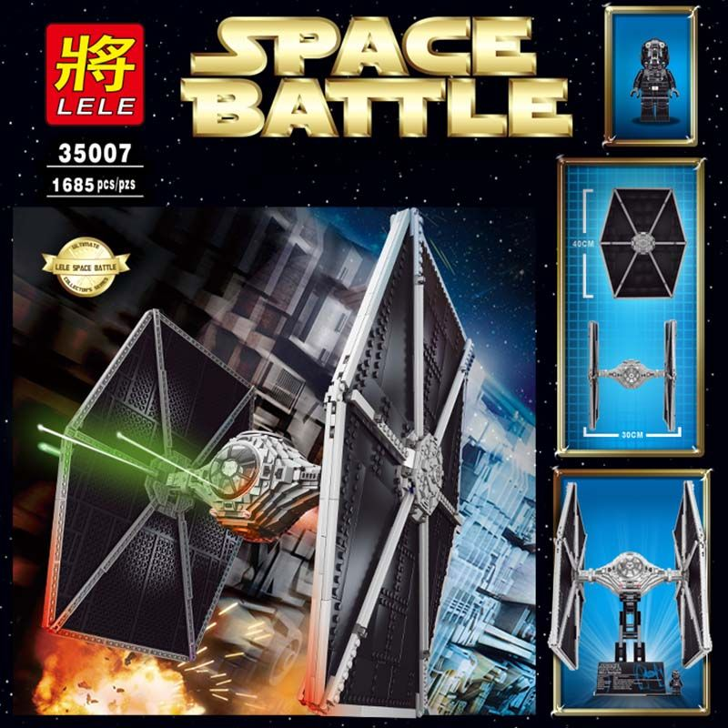 "Конструктор Lele Space Battle ""Истребитель TIE "" 1658 деталей No.35007"