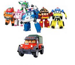 (Сток по упаковке) Вся команда из 7-ти трансформеров Робокар поли (Рой, Поли, Эмбер, Хэлли, Марк, Баки, Почер)