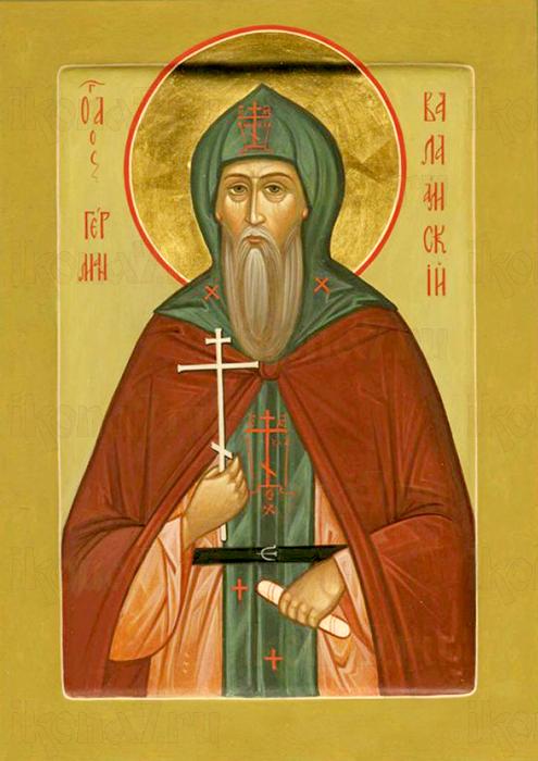 Герман Валаамский (рукописная икона)
