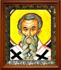 Кирилл Новоезерский (19х22), светлый киот