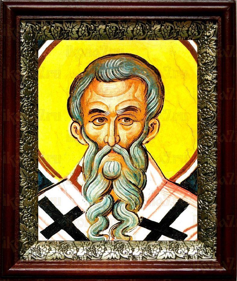 Климент Анкирский (19х22), темный киот