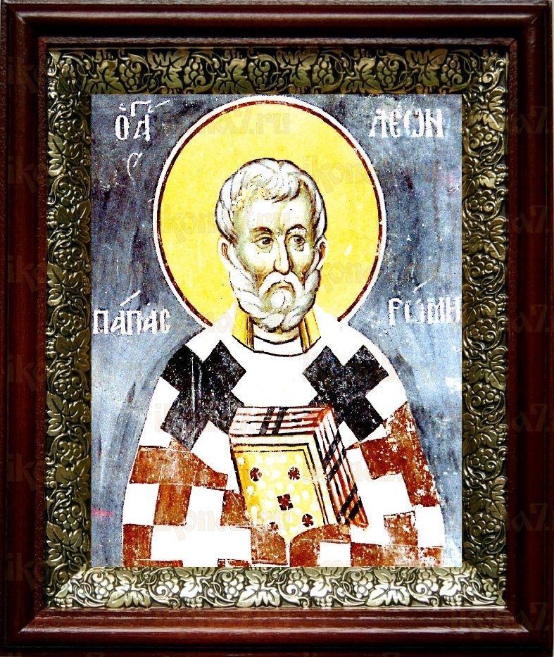 Лев, папа Римский (19х22), темный киот