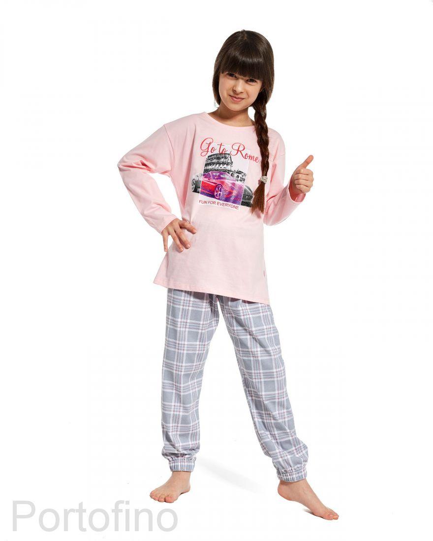 534-81 Пижама для девочки с длинным рукавом и брюками  Cornette