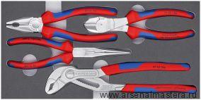 Набор инструментов Basic Chrom (Плоскогубцы, круглогубцы, кусачки боковые, клещи Cobra) KNIPEX 00 20 01 V17