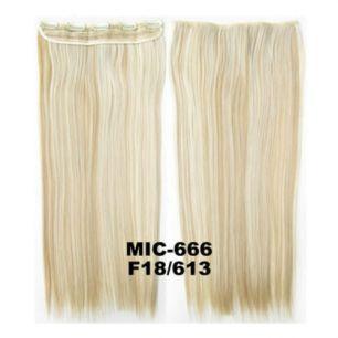 Искусственные термостойкие волосы на заколках на трессе №F18/613 (55 см) - 1 тресса, 100 гр.