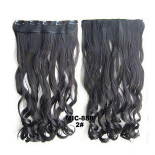 Искусственные термостойкие волосы на заколках на трессе волнистые №002 (55 см) - 1 тресса, 100 гр.