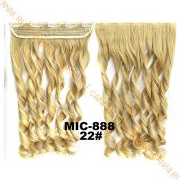 Искусственные термостойкие волосы на заколках на трессе волнистые №022 (55 см) - 1 тресса, 100 гр.