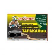 Дохлокс Ловушки от тараканов 4шт+гель 40мл.