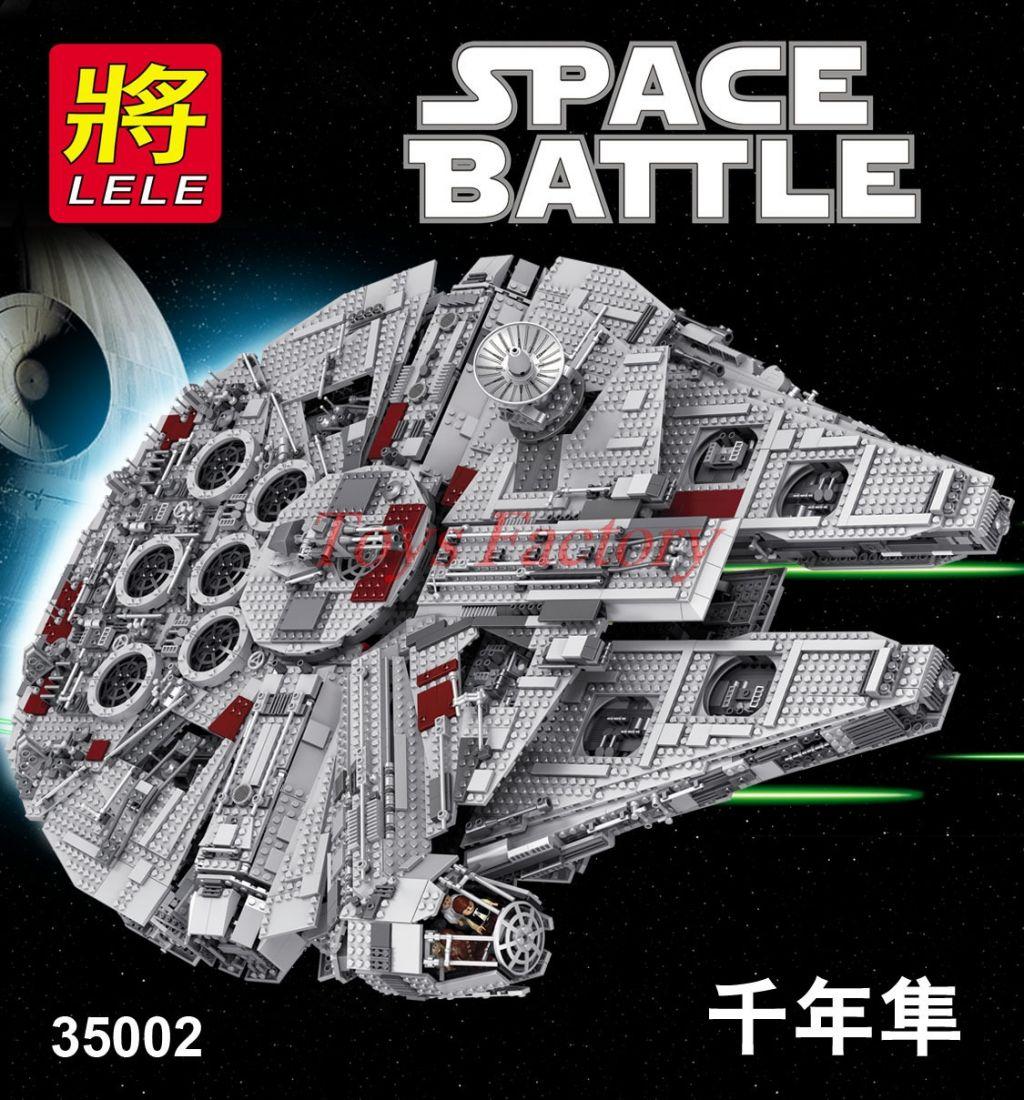 """Конструктор Lele Space Battle """"Большой Тысячелетний Сокол"""" 5382 деталей No.35002 ( starwars 75192 )"""