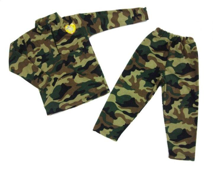 Костюм: толстовка на молнии с карманами, штаны dC-KS073(m)-FL (флис, камуфляж)