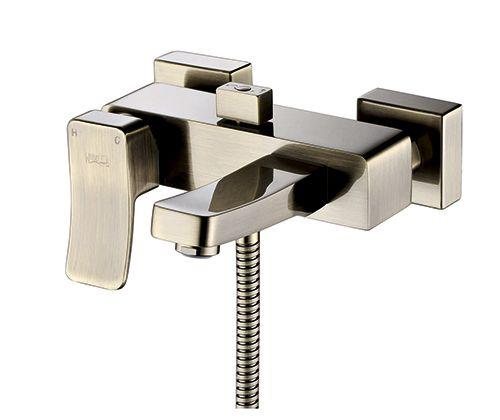 """Смеситель  для ванны с коротким изливом WasserKRAFT Exter 1601 """"светлая бронза"""""""