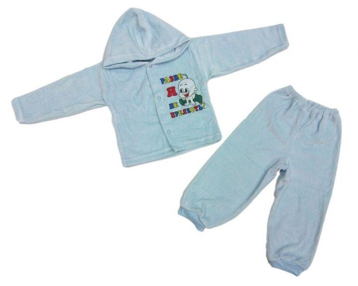 Костюм: кофта с капюшоном, штаны dA-KS01(k)3-VL (велюр)
