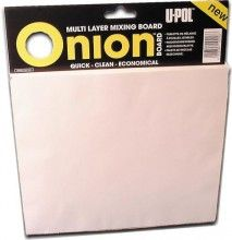 U-Pol ONION BOARD Многослойная палитра для смешивания материалов (100 листов)