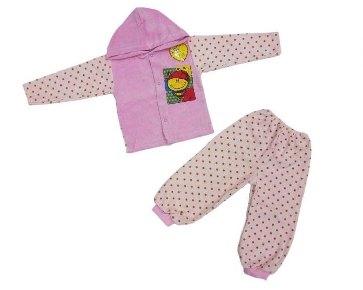 Костюм: кофта с капюшоном, штаны dA-KS013-VLk(go) / велюр, пчелка