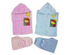 """Костюм: кофта с капюшоном , штаны dA-KS013-VLk(go) (велюр, пчелка)   Код товара 01575   Оптом от производителя """"Мамин Малыш""""   Размеры 74-80-86   Цвет девочке розовый, мальчику голубой"""