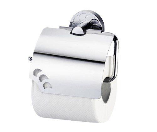 Держатель туалетной бумаги с крышкой WasserKRAFT Isen К-4025