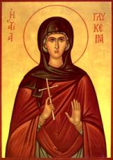 Гликерия Гераклейская (рукописная икона)