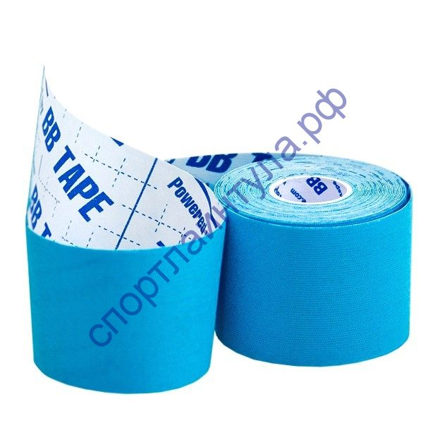 Кинезио тейп BBTape ICE 5см*5м голубой