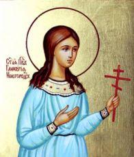 Гликерия Новгородская (рукописная икона)