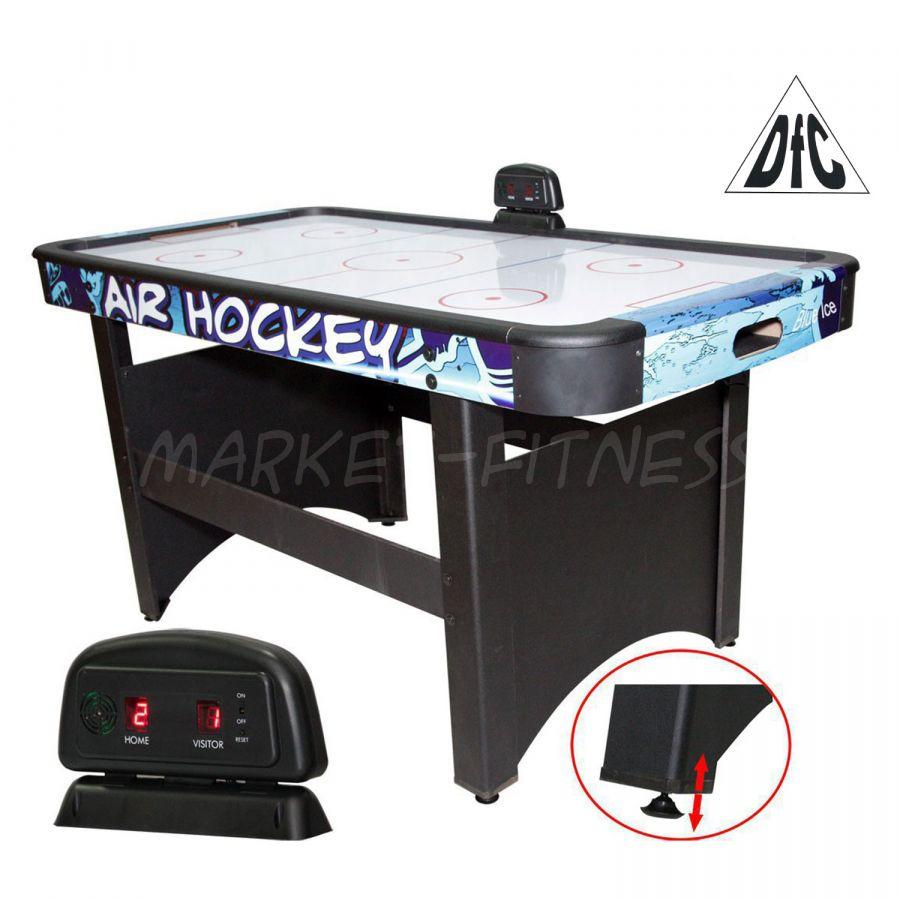 Игровой стол-аэрохоккей DFC Blue Ice (синий), 5ф