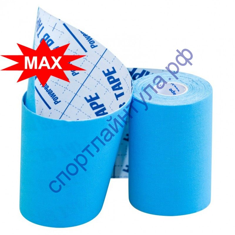 Кинезио тейп BBTape™ МАХ 10см × 5м голубой