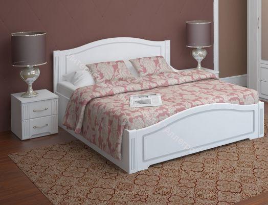 Кровать Виктория двойная 180*200 см с латами Белый глянец
