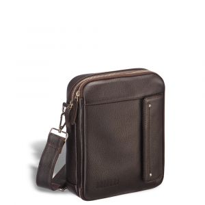 Оригинальная сумка через плечо BRIALDI Grand Montone (Монтоне) relief brown