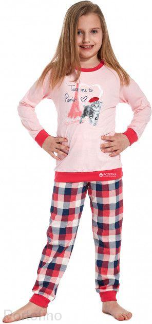 594-74 Пижама для девочки дл.рукав Cornette