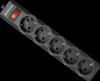 Сетевой фильтр ES largo 1.8 черный, 1,8 м, 5 розеток