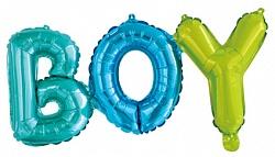 Надпись BOY (Мальчик) на выписку из шаров с воздухом