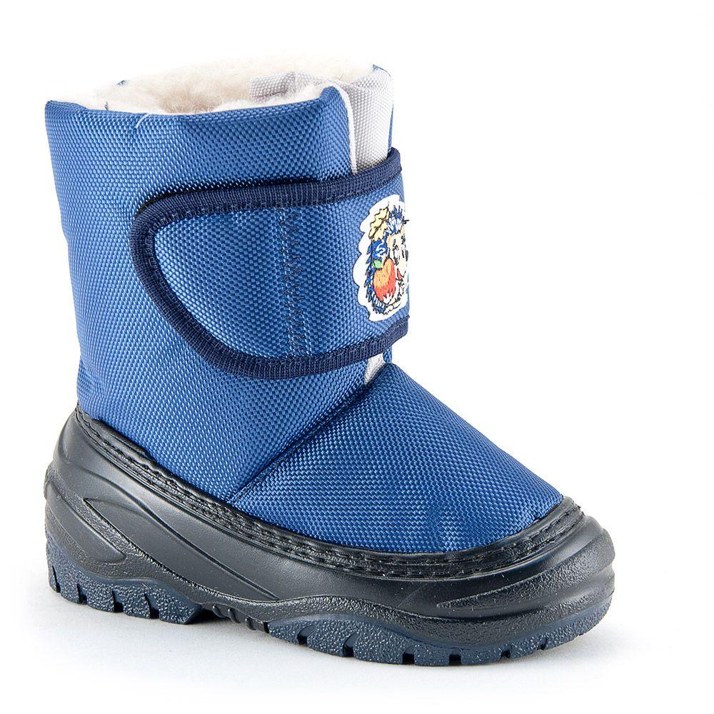 Синие сапоги для мальчика на размер 24-25