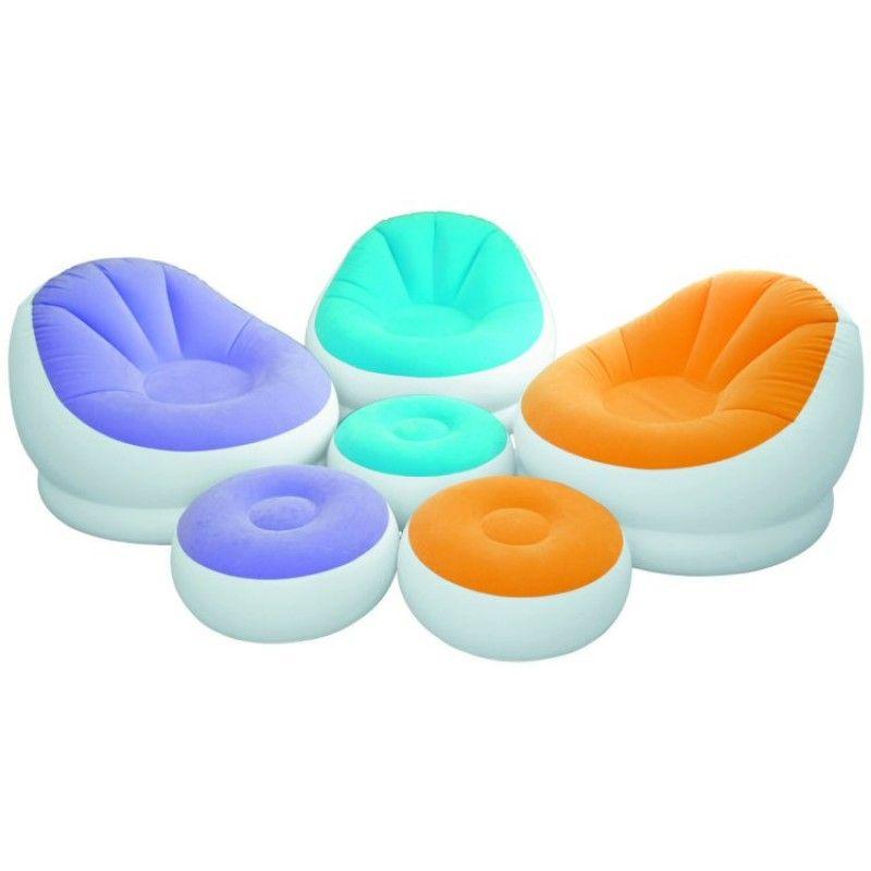 Кресло надувное Intex (68572) Cafe Chaise Chair