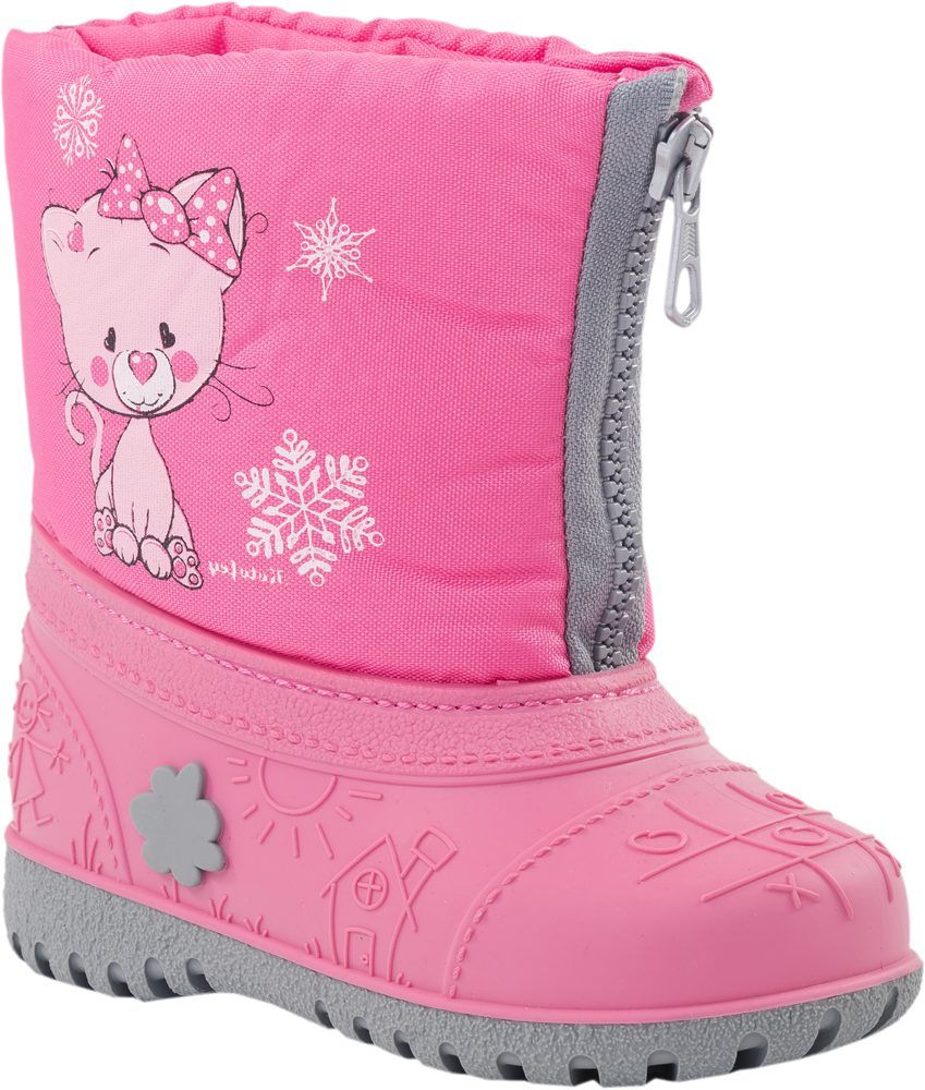 Сапоги для девочек цвет розовый размер 25-26