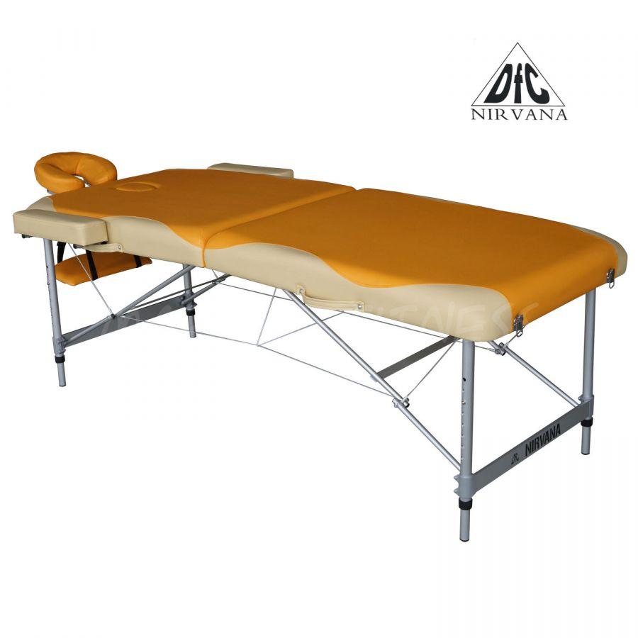 Массажный стол DFC NIRVANA Elegant Premium (цвет оранж./беж.)