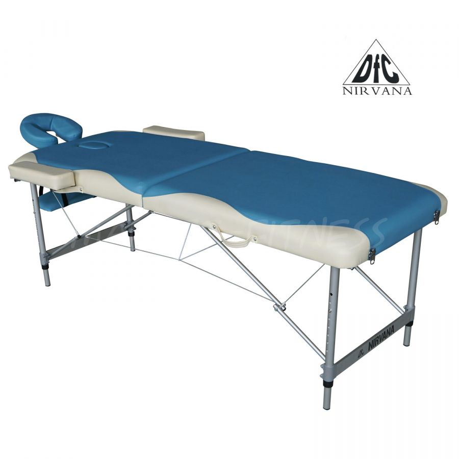 Массажный стол DFC NIRVANA Elegant Deluxe (цвет голуб./беж.)