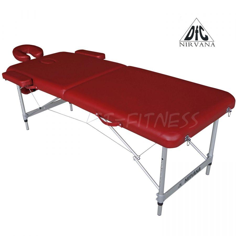 Массажный стол DFC NIRVANA Elegant Luxe (цвет бордовый)