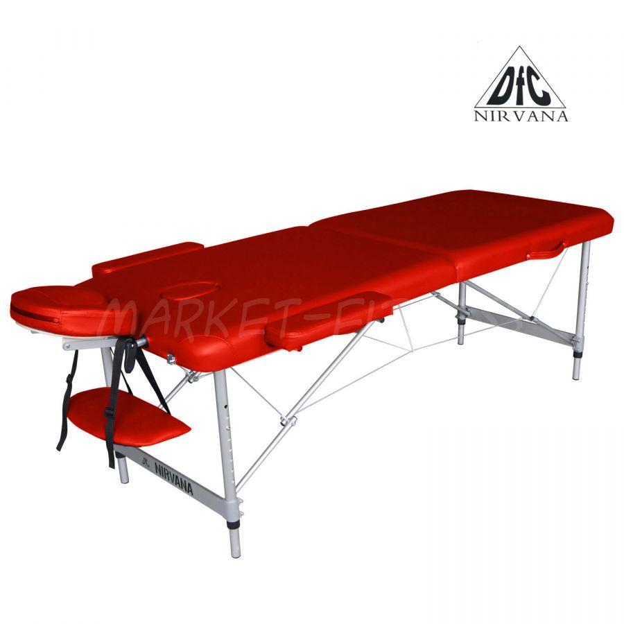 Массажный стол DFC NIRVANA Elegant Optima (цвет красный)
