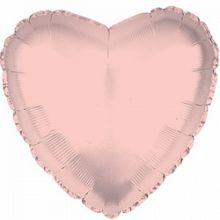 """Фигура """"Сердце"""" розовое золото, 36""""/ 90 см"""