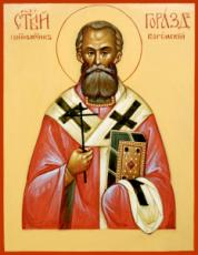 Горазд Богемский (Павлик) (рукописная икона)