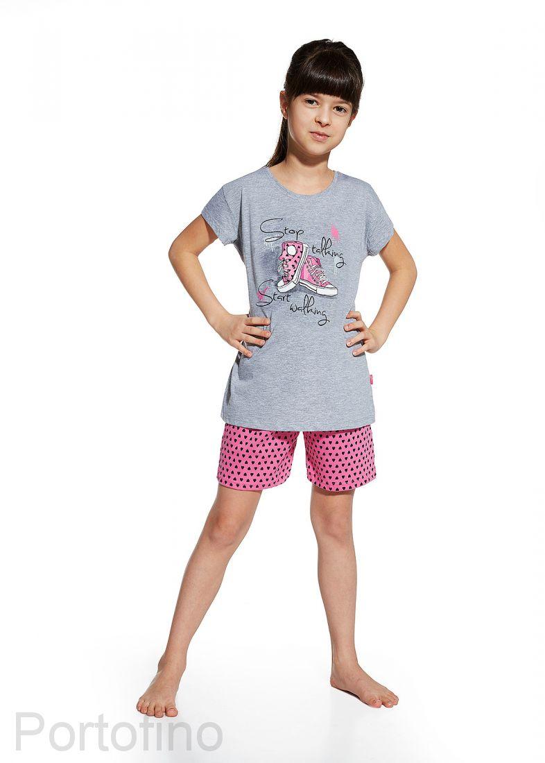 787-51 Пижама для девочки короткий рукав Cornette