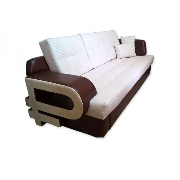 Диван «Рубль» прямой (со спальным местом, с угловой спинкой)