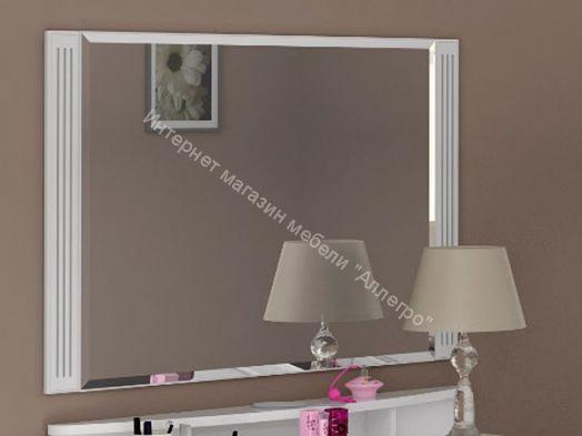 Зеркало Виктория Белый глянец