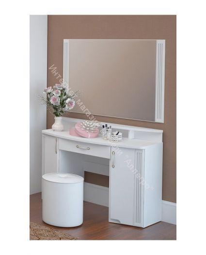 Стол туалетный  Виктория Белый глянец