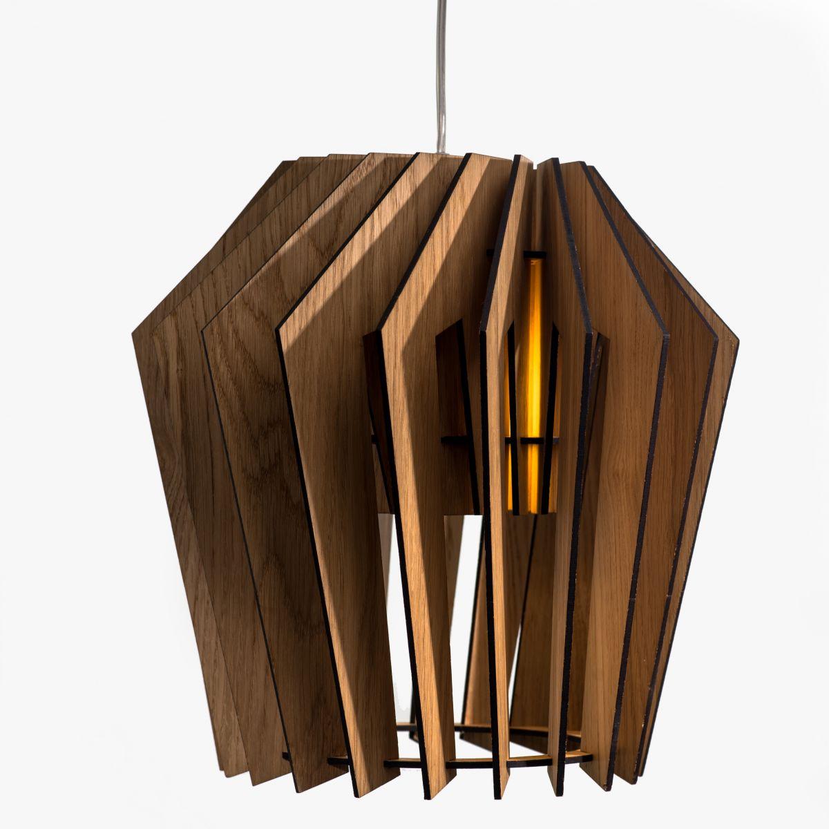 Турболампа из дуба, большая - подвесной светильник